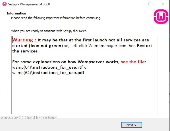 servidor wampserver warning-restart